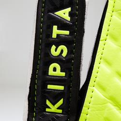 F100 Kids' Football Goalkeeper Gloves - Black/Yellow