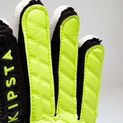 Guantes de portero de fútbol para niños F100 negro y amarillo