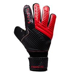 Gant de gardien de football F500 terrain synthétique adulte rouge noir