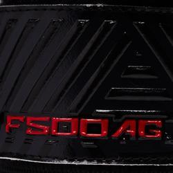 Gant de gardien de football F500 protect terrain synthétique enfant rouge noir