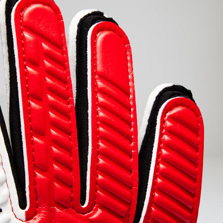 F500 Kids' Football Goalkeeper Gloves - Red/Black