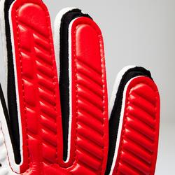 Gant de gardien de football enfant F500 rouge noir