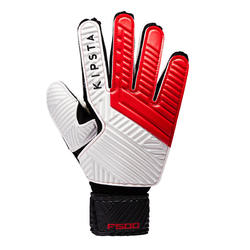 Kids' Football Goalkeeper Gloves F500 - Red/Black