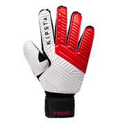 Rdeče in črne rokavice za nogometnega vratarja F500 za odrasle