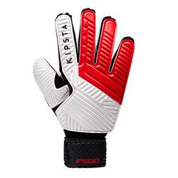 成人款足球守門員手套-紅色/黑色