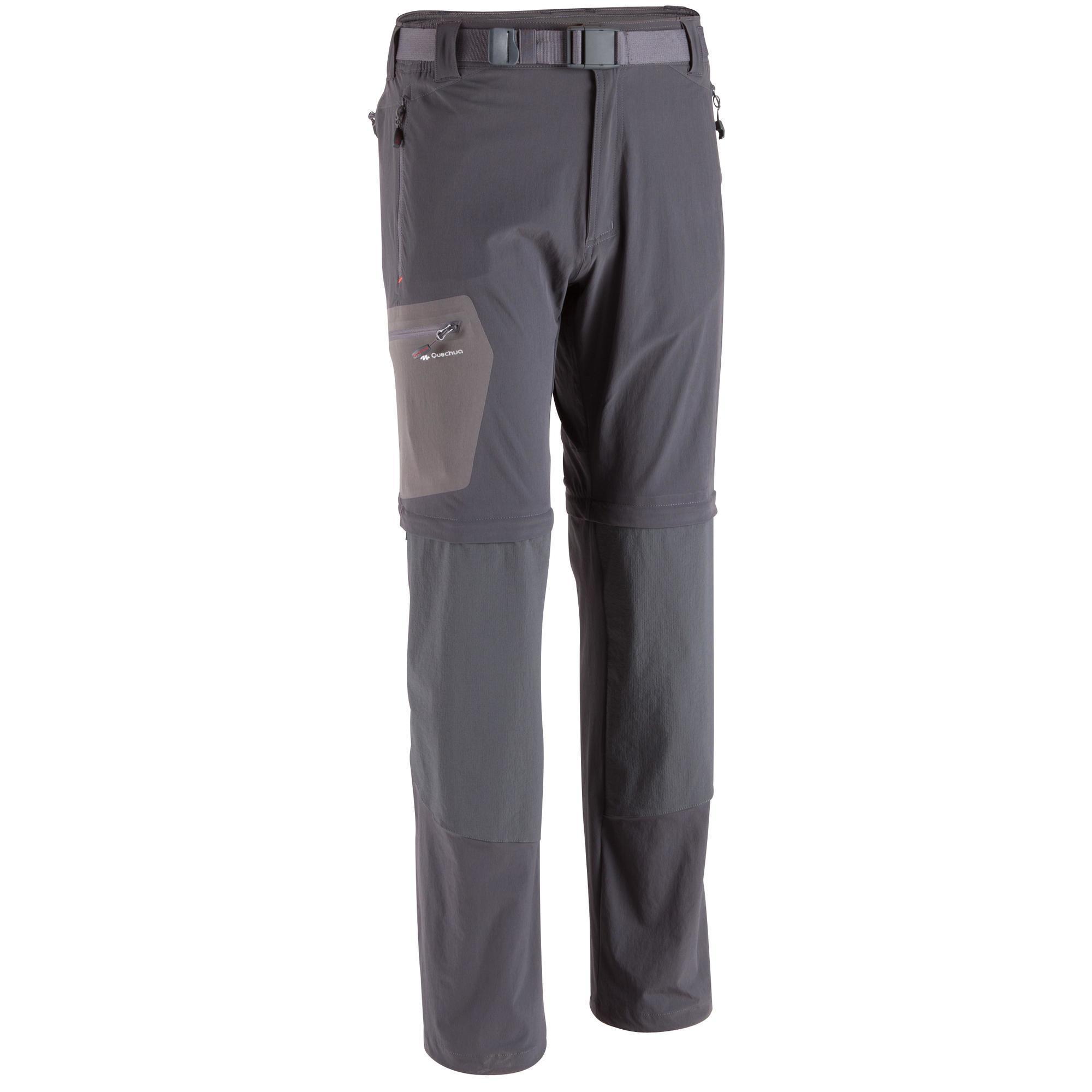 pantalon modulable randonn e forclaz 500 homme gris fonc quechua. Black Bedroom Furniture Sets. Home Design Ideas