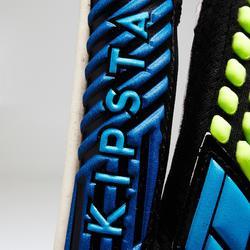 Torwarthandschuhe F900 Fußball Erwachsene blau/gelb