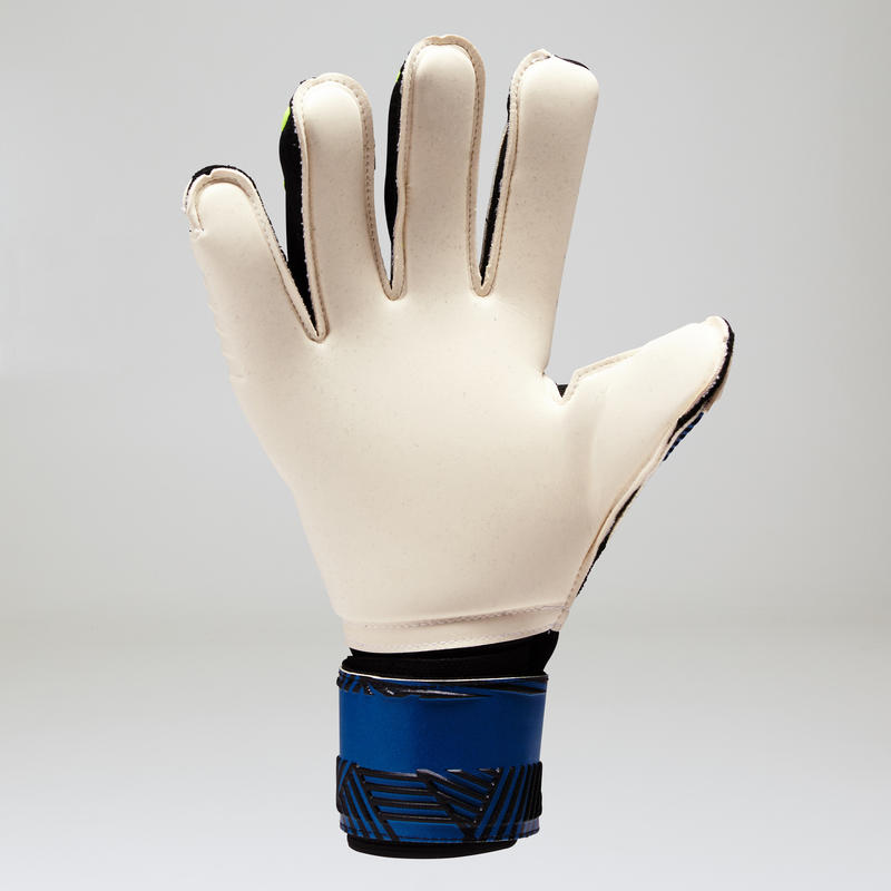F900 Adult Football Goalkeeper Gloves - Blue/Yellow