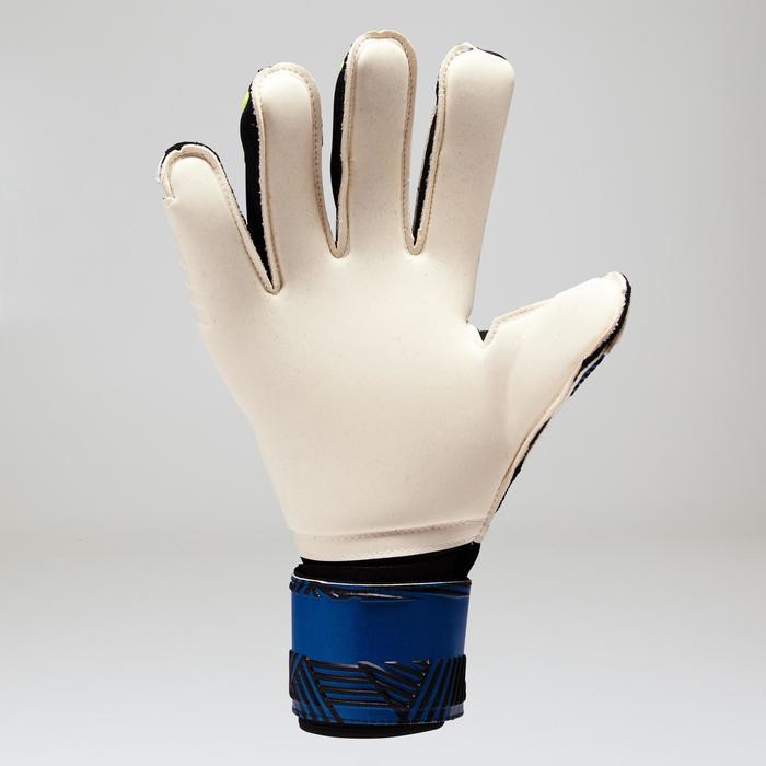 Gant de gardien de football adulte F900  adulte bleu jaune - 1413066