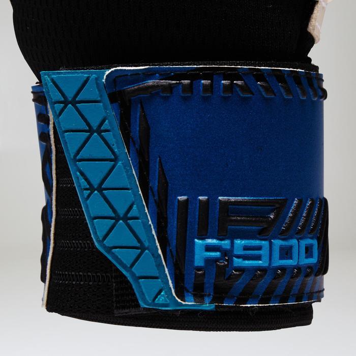 Keepershandschoenen F900 voor volwassenen blauw geel
