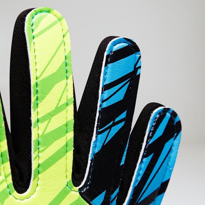 Guantes de portero de fútbol para niños First azul rosa amarillo verde