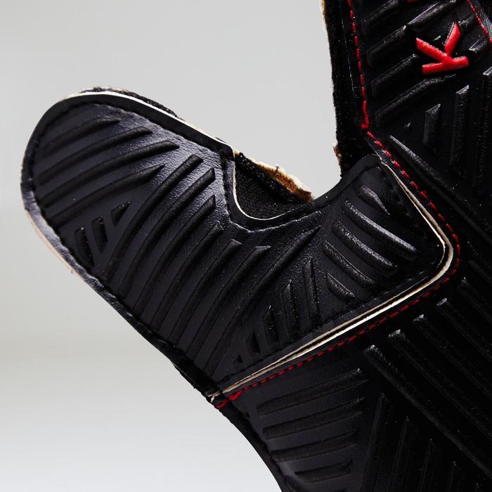 Gant de gardien de football enfant F500 terrain synthétique rouge noir