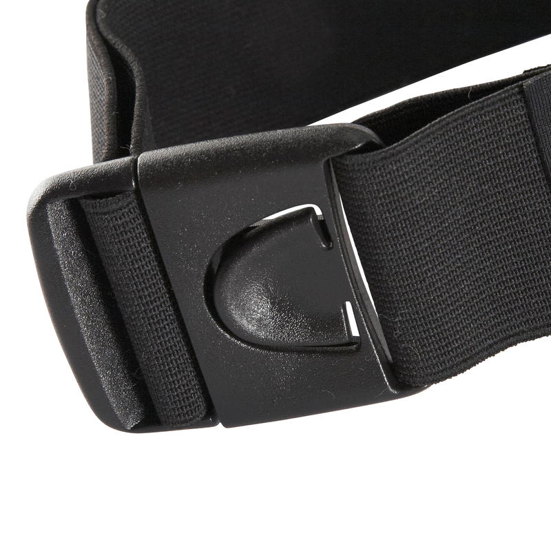 กระเป๋าสมาร์ทโฟนแบบคาดเอวสำหรับวิ่ง (สีดำ)