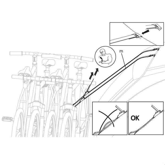 Porte-vélo plateforme sur attelage TowVoyage Rapid 4 vélos