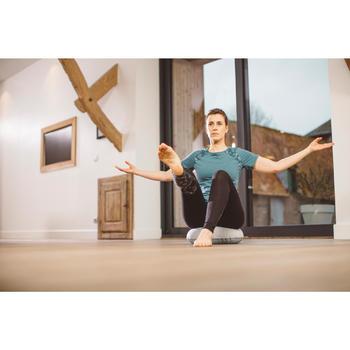 Cojín Equilibrio Inflable Gimnasia Pilates Domyos Tela Gris