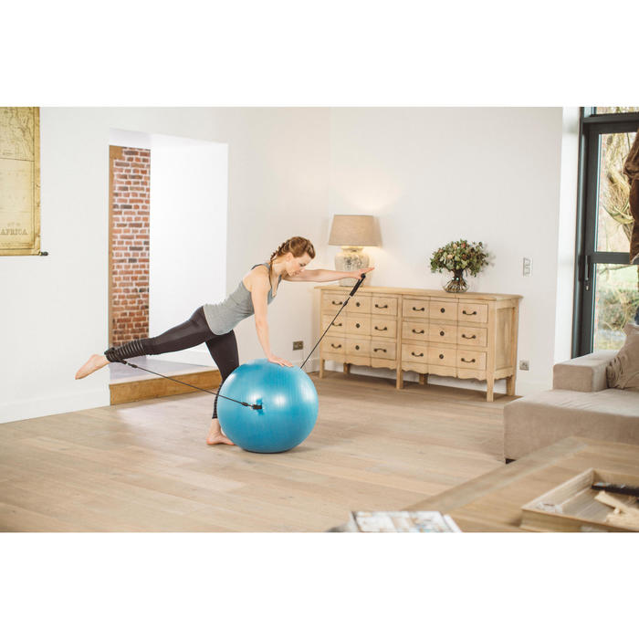 SWISS BALL 120 PILATES MEDIUM + ELASTIQUES - 1413285