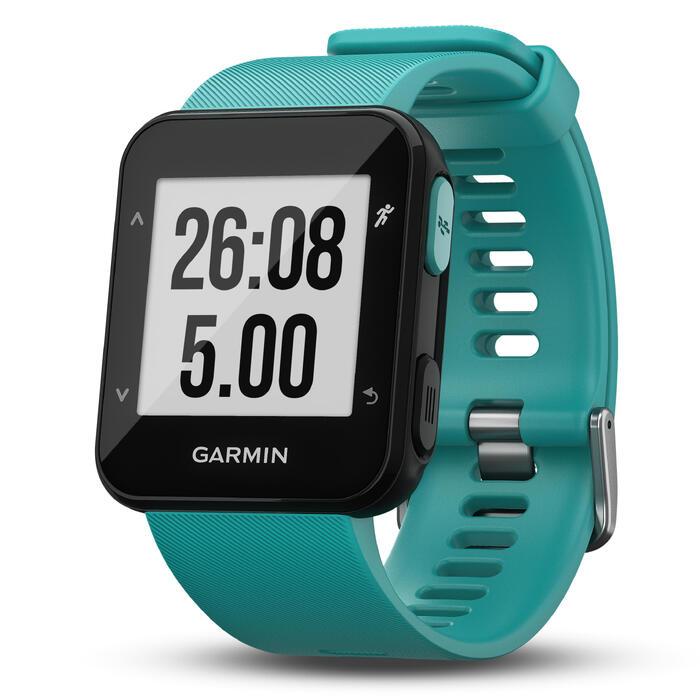Montre GPS Forerunner 30 avec cardio au poignet turquoise - 1413293