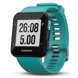 Montre GPS Forerunner 30 avec cardio au poignet turquoise