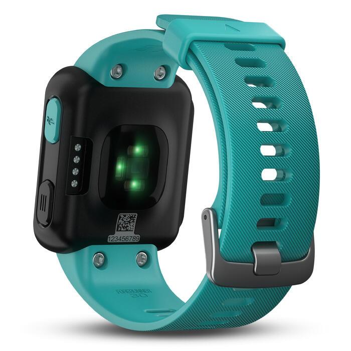 Montre GPS Forerunner 30 avec cardio au poignet turquoise - 1413294