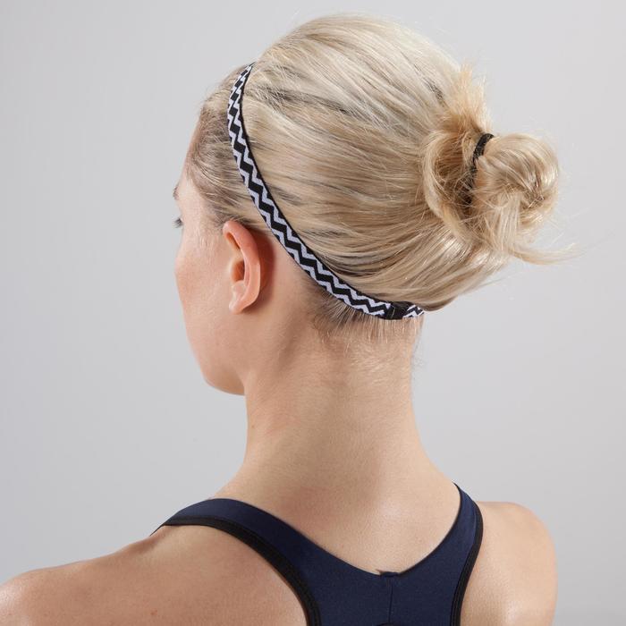 Haarband Fitness-/Cardio-Training 3er-Set Damen gelb/grün/blau/schwarz