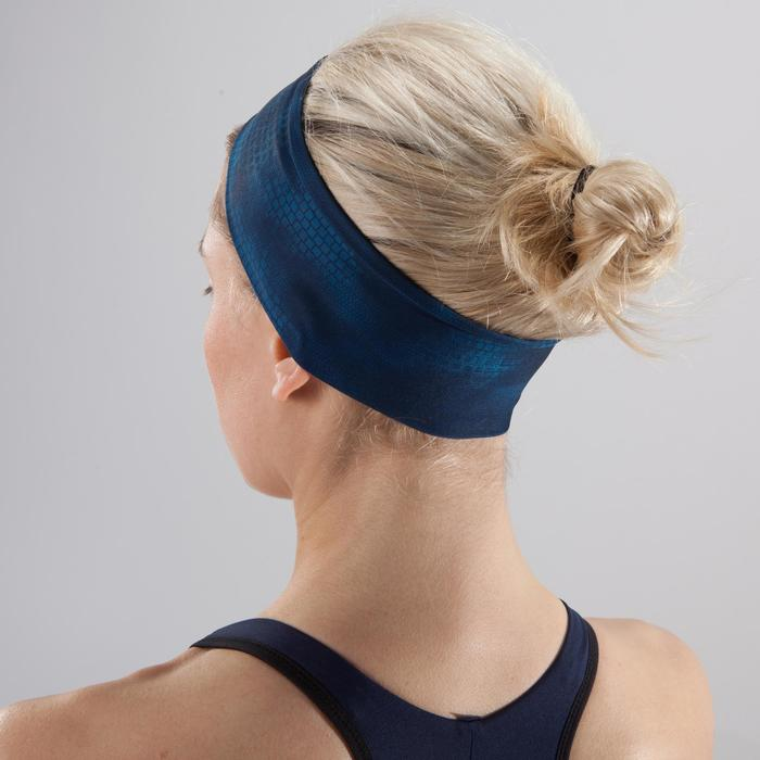 Bandeau fitness cardio-training femme bleu
