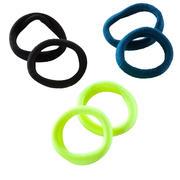Črna, modra in zelena gumica za lase