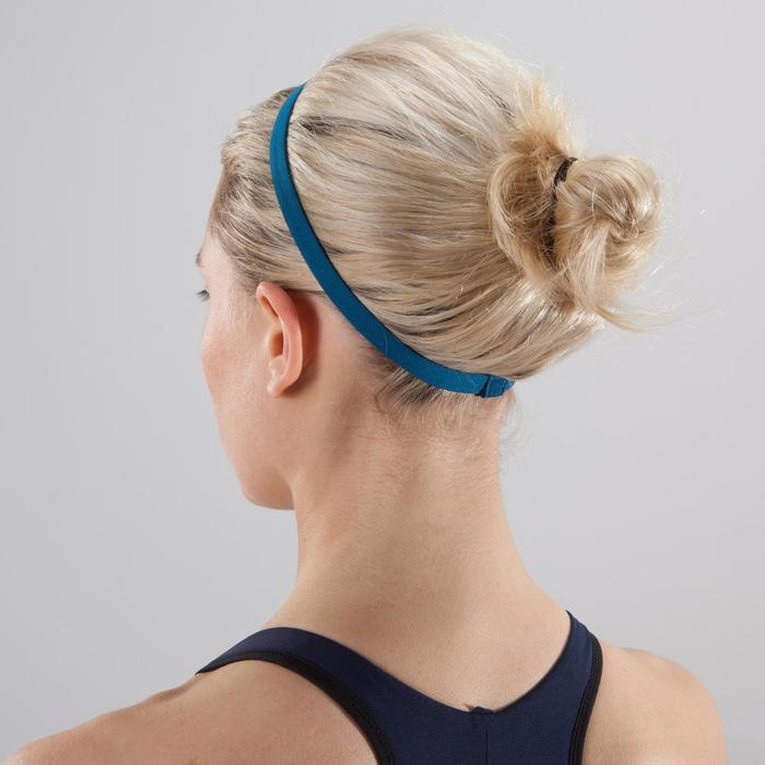 Elastische fitness cardiotraining hoofdbanden (set van 3) geel, blauw en zwart