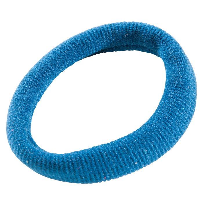 Elastique cheveux fitness cardio-training femme noir bleu et jaune