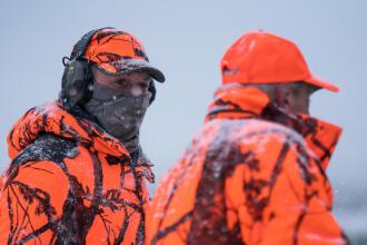 caça de batida neve gola quente