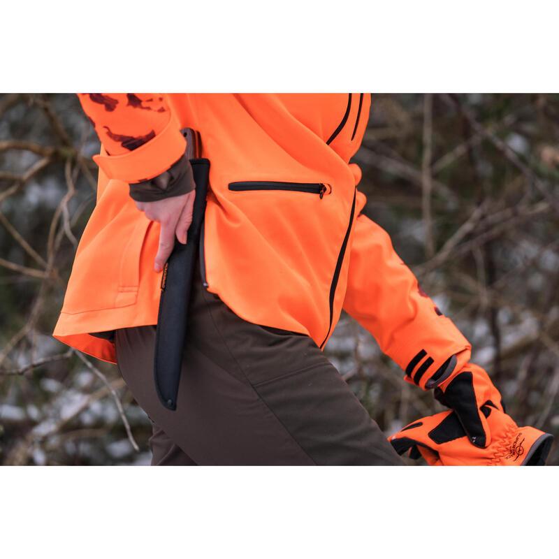 f7ad44029c407 WOMEN'S SUPERTRACK WATERPROOF HUNTING JACKET - FLUO | Solognac