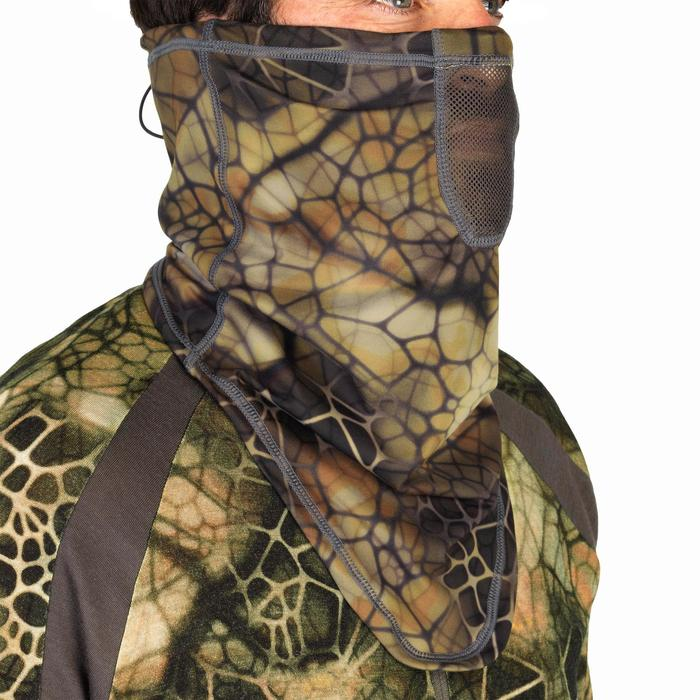 Tour de Cou chasse Respirant 500 CAMOUFLAGE FURTIV