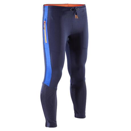 fa9a92df274 Pantalon d entraînement de football enfant TP500 bleu noir