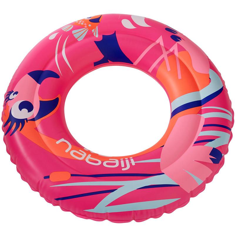 """Flotador inflable 51 cm azul con estampado """"FLAMENCO ROSADO"""" para niños 3-6 años"""