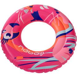 51 cm兒童3-6歲用充氣式泳圈 - 粉色紅鶴印花