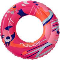 Children's inflatable swim ring 3-6 years 51 cm - Flamingo pink print