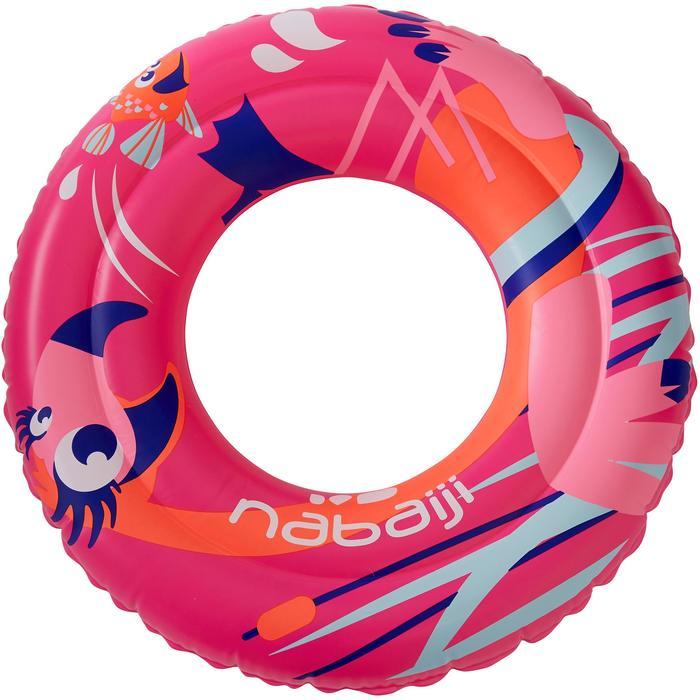 """Flotador natación inflable 51 cm rosa estampado """"FLAMENCO"""" para niño de 3-6 años"""