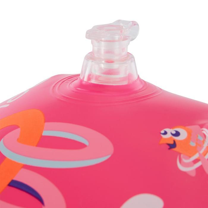 Zwembandjes voor kinderen van 11-30 kg roze met roze flamingoprint
