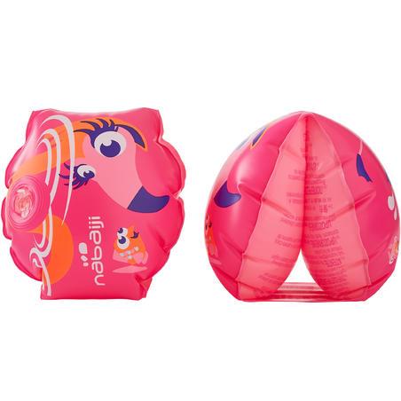 "11-30 kg Children's Swimming Armbands -  ""PINK FLAMINGO""  print"