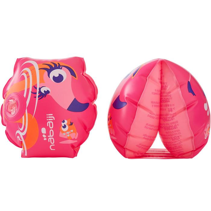 """Brassards de natation roses imprimés """"FLAMANT ROSE"""" pour enfants de 11-30 kg"""