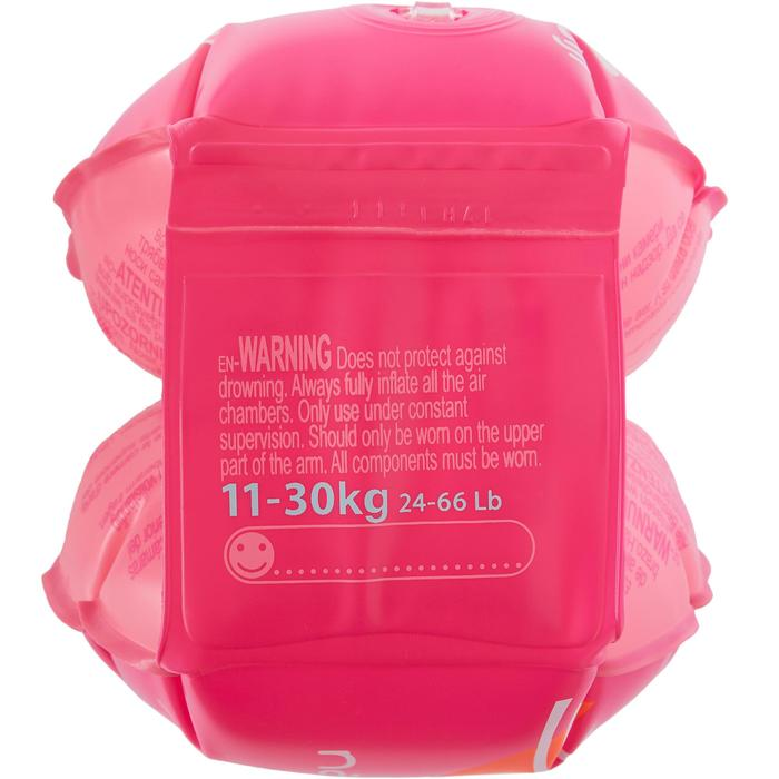 Manguitos Natación Nabaiji Rosa Estampado Flamenco 11 a 30kg