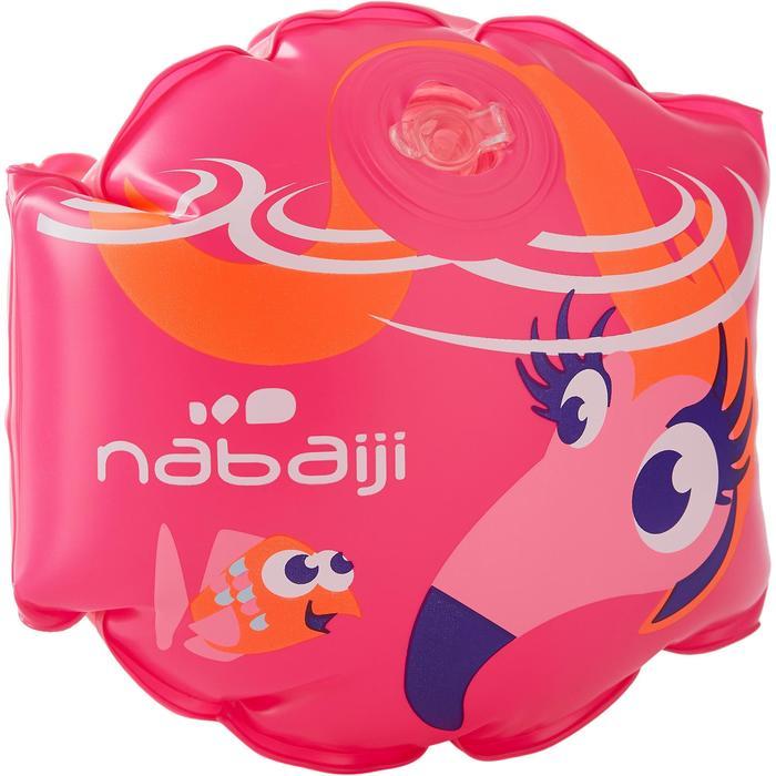 """Manguitos de natación rosa con estampado """"FLAMENCO ROSA"""" para niños de 11-30 kg"""
