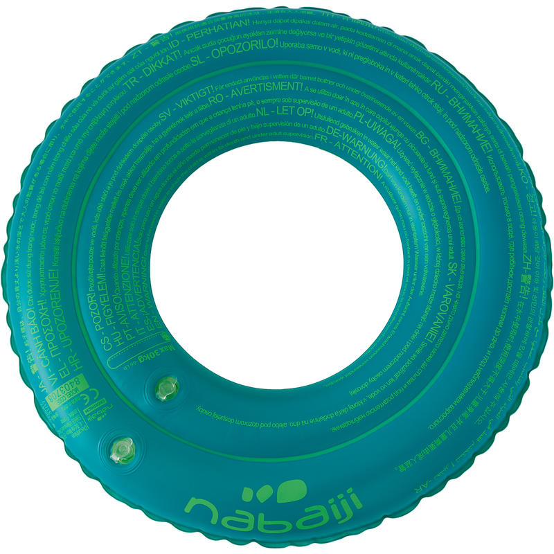 Kids Swimming ring 3-6years - printed green