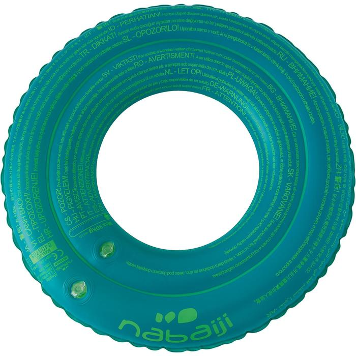 """Flotador inflable de 51 cm azul con estampado """"MONO"""" para niño de 3-6 años"""