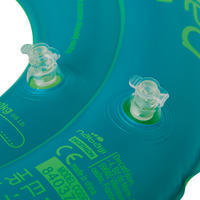 Children's Inflatable Swim Ring 3-6 Years 51 cm - Monkey Print Green