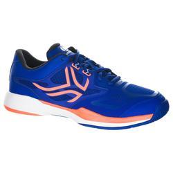 Tennisschoenen voor heren TS560 blauw oranje multicourt