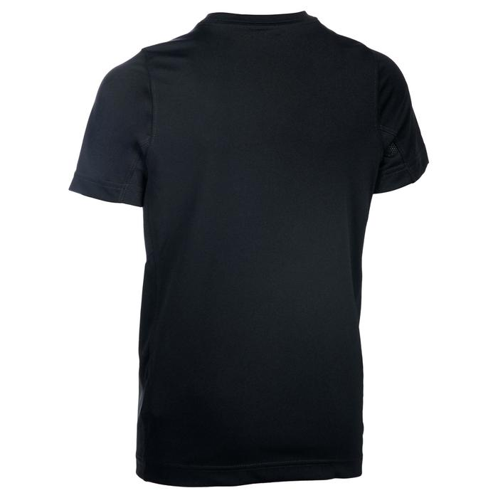 Fitness T-shirt voor jongens zwart