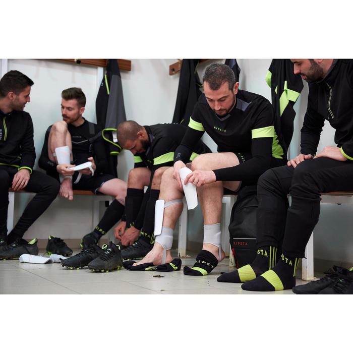 Protège-tibias de football adulte F140 (chevillère détachable) - 1413599