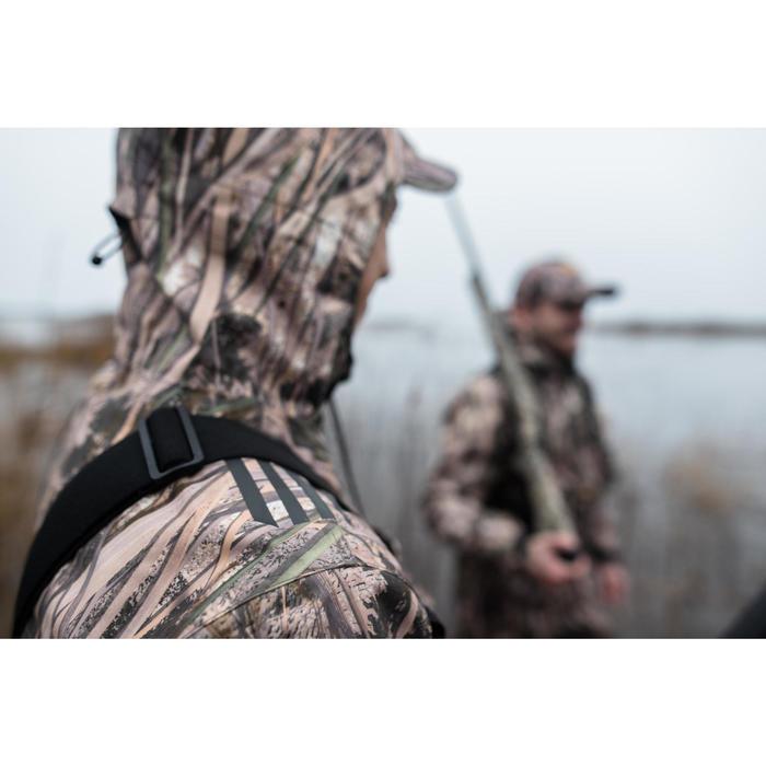Veste chasse imperméable 500 camouflage marais