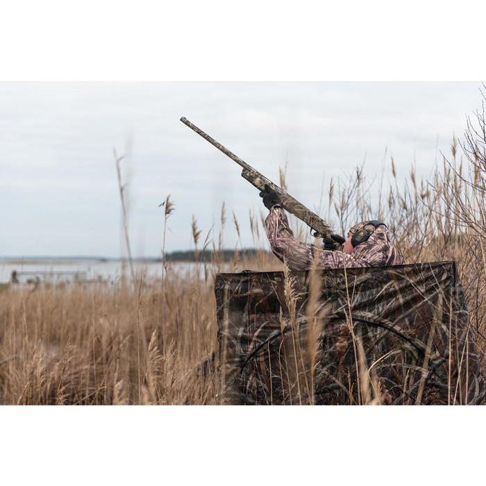 Vierkante loertent met moerascamouflage voor de jacht