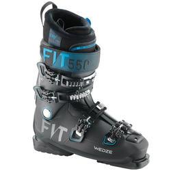 男款下坡滑雪靴FIT 550,黑色